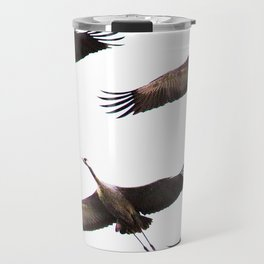 Cranes in flight #decor #society6 Travel Mug
