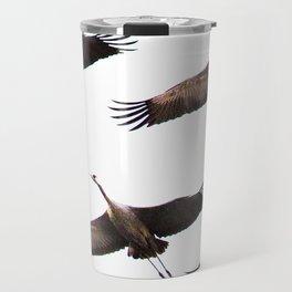 Cranes in flight #decor #society6 Travel Mug