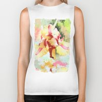 water colour Biker Tanks featuring Water colour parrot tulip by thea walstra