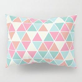 Triangulation (pink and green) Pillow Sham