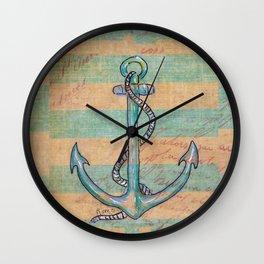 Safe Harbor - Anchor Wall Clock