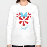 ohana Long Sleeve T-shirts featuring Ohana Minnie  by KaylaMessies