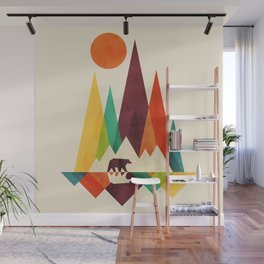 Bear In Whimsical Wild Wall Mural