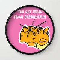 garfield Wall Clocks featuring Daydream Nimbus - Garfield Tribute by PaulusHyu