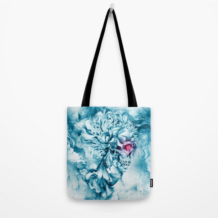 Frozen Skull Tote Bag