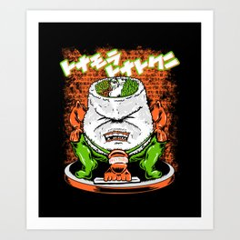 Sumo Sushi Art Print