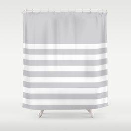 Gray Bretton Stripe Art Shower Curtain