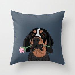 Cooper Bluetick coonhound Throw Pillow