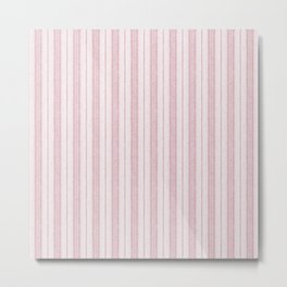 Velvety Snakeskin Stripe in Pale Pink Metal Print