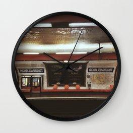 Richelieu-Drouot Wall Clock