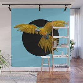 Parrot in Flight Wall Mural