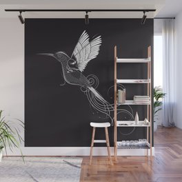 fanciful hummingbird Wall Mural