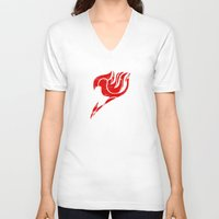 fairy tail V-neck T-shirts featuring Fairy Tail Segmented Logo circle by JoshBeck