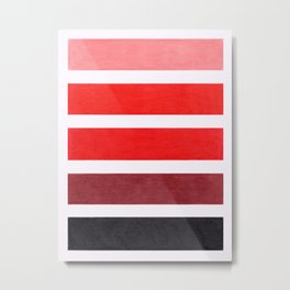 Colorful Red Geometric Pattern Metal Print