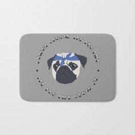 Pug Life - I Didn't Chose the Pug Life, The Pug Life Chose Me - Funny Print for Pug Lovers Bath Mat