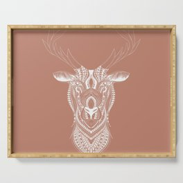 ELILIA Stag in White Serving Tray