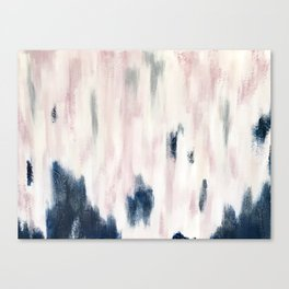 Blush Pink and Blue Pretty Abstract Canvas Print