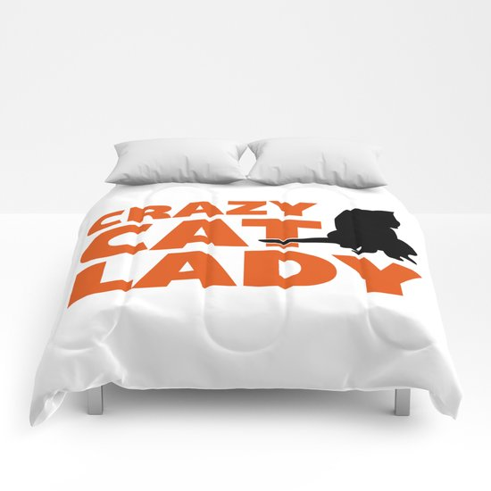 Crazy Cat Lady Funny Quote Comforters