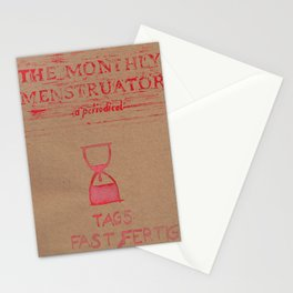 THE MONTHLY MENSTRUATOR - a periodical: fast fertig Stationery Cards