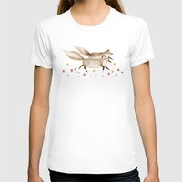 running T-shirts featuring Running Foxes by Sophie Corrigan