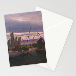 Caspar David Friedrich - Boats in the Harbour at Evening.jpg Stationery Cards