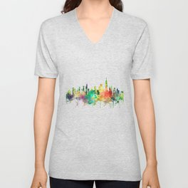 Chicago, Illinois Skyline SP Unisex V-Neck
