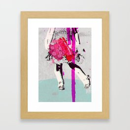 My gardens - youth Framed Art Print