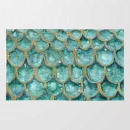 Emerald Mermaid Skin Rug