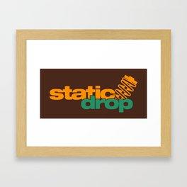 Static drop v6 HQvector Framed Art Print