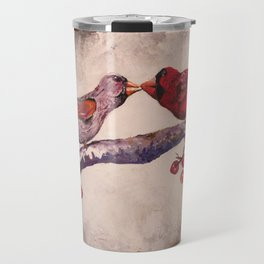 Kissing Cardinals Travel Mug