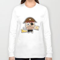 pirate Long Sleeve T-shirts featuring PIRATE by AnishaCreations