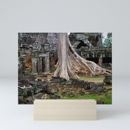 Ta Prohm Temple Ruins In Cambodia Mini Art Print