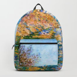 Claude Monet - The Road to Vetheuil - Digital Remastered Edition Backpack