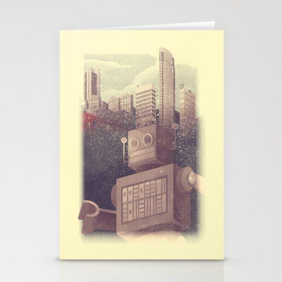 A City Snow-Bot Stationery Cards