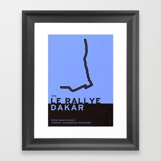 Legendary Races - 1978 Le rallye Dakar Framed Art Print