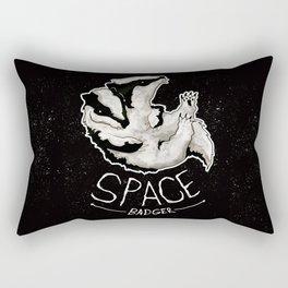 Space Badger by Devon Baker Rectangular Pillow
