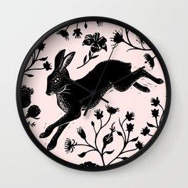 Hare & Vines Wall Clock