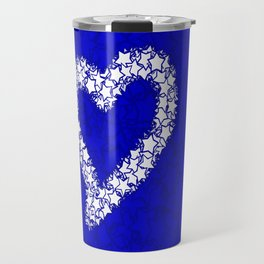 HEART GALAXY BLUE Travel Mug