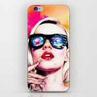 iggy azalea iPhone & iPod Skins featuring Iggy Azalea- Orange/Pink by Tiffany Taimoorazy