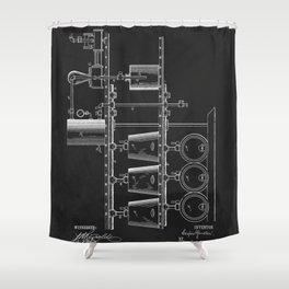 Beer Whisky Still Distillery Patent Shower Curtain