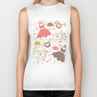 sewing Biker Tanks featuring Vintage Sewing by Poppy & Red