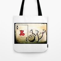 baseball Tote Bags featuring Baseball by Funniestplace