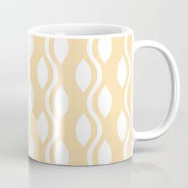 Retro Ogee Pattern 731 Cream Yellow Coffee Mug