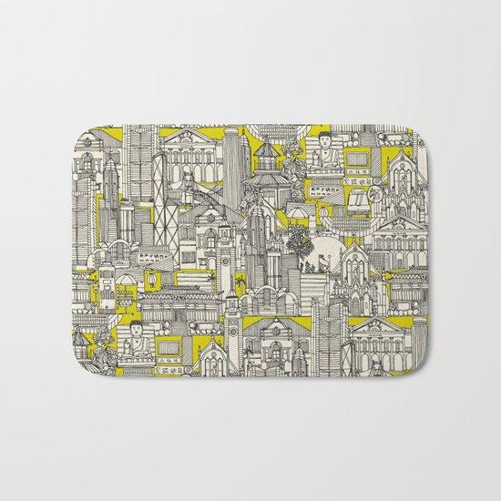 Hong Kong toile de jouy chartreuse Bath Mat