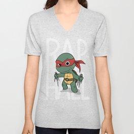 TMNT: Raphael (Cute & Dangerous) Unisex V-Neck