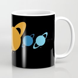 Planets And Moons To Scale Coffee Mug