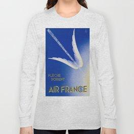 Flèche D'Orient - Vintage Air France Travel Poster Long Sleeve T-shirt