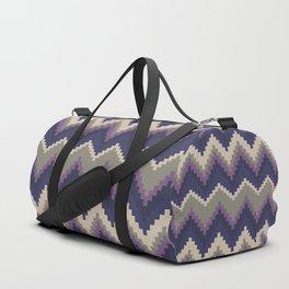 Jagged Violet Duffle Bag