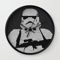 stormtrooper Wall Clocks featuring Stormtrooper by  Steve Wade ( Swade)