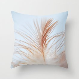 FEATHER cream look - animal colletion Throw Pillow